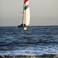 Sailboat Coming Ashore 1 by Marilyn Hunt
