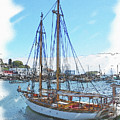 Sailboat Docked In Camden by Brenda Spittle