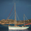 Sailboat In Iona Bay by Laurence Ventress