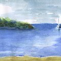 Sailboat In Still Waters by Frank Bright