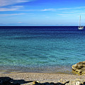 Sailboat In The South Agean Sea, Rhodes, Greece by Global Light Photography - Nicole Leffer