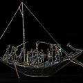 Sailboat On Black                                by S Paul Sahm