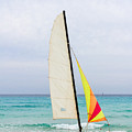Sailboat On The Beach by Les Palenik