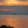 Sailboat On The Sound by Julie Strickland