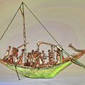 Sailboat Sketch                           by S Paul Sahm