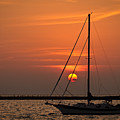 Sailboat Sunrise Chicago by Steve Gadomski