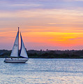 Sailboat Sunset by Capturing The Carolinas