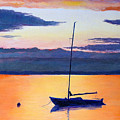 Sailboat Sunset by Robert Henne