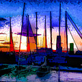 Sailboats At Rest by Susan Eileen Evans