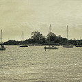 Sailboats In Gloucester Harbor by Tom Gari Gallery-Three-Photography