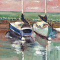 Sailboats In Lahaina by Elizabeth Ferris