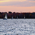 Sailboats In The Evening by Mike Murdock