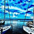 Sailboats Watching Weather by Carmen Clark