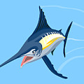 Sailfish Diving by Aloysius Patrimonio