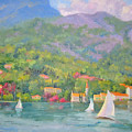 Sailing - Lake Como by Bunny Oliver