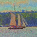 Sailing Aboard Sarah Mead At Spruce Point Boothbay Harbor Maine by Viktor Arsenov