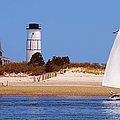 Sailing Around Sandy Neck Lighthouse by Charles Harden