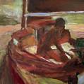 Sailing At Dusk by Bob Dornberg