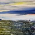 Sailing At Dusk by Marilyn  McNish