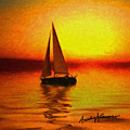 Sailing At Sunset by Anthony Caruso