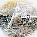Sailing Boat, Nautical,yachts, Seascape by Jean Francois Gil
