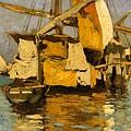 Sailing Boat On The Canale Della Giudecca by MotionAge Designs