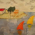 Sailing-boats by Anthony Meton