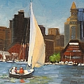 Sailing Boston Harbor by Laura Lee Zanghetti