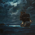 Sailing By Moonlight by Vasilios Chatzis