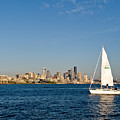 Sailing By Seattle by Tom Dowd