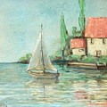 Sailing Day After Monet by Beth Capogrossi