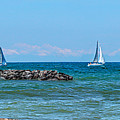 Sailing Days On Lake Erie Panorama by Randy Steele