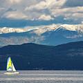 Sailing Flathead Lake by David Hart