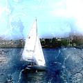 Sailing In Boston Harbor by Julie Lueders