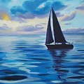 Sailing In Cerulean Blue by Anila Ayilliath