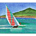 Sailing In Hawaii by Janet Edwards