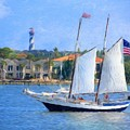 Sailing In St. Augustine by Susan Grube