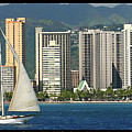 Sailing Off Waikiki by Tommy Anderson