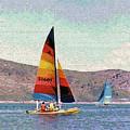 Sailing On A Utah Lake by Steve Ohlsen