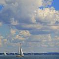 Sailing On Chiemsee Lake by Rusalka Koroleva