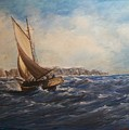 Sailing On Narragansett Bay by Perrys Fine Art