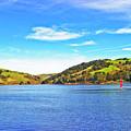 Sailing On San Pablo Dam Reservoir by Joyce Dickens