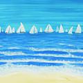 Sailing Regatta White by Irina Afonskaya
