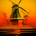 Sailing Romance Windmills by Walter Zettl