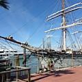 Sailing Ship At Galveston by Carol Cooper