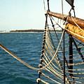 Sailing Ship Prow On The Caribbean by Douglas Barnett