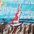 Sailing The Coast Abstract by Scott D Van Osdol