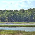 Sailing The Intracoastal Near Savannah by Gordon Elwell