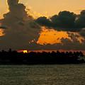 Sailing The Keys At Sunset by Maria Keady