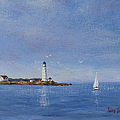 Sailing To Boston Light by Laura Lee Zanghetti